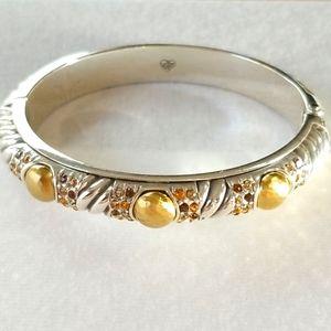 "Brighton ""Gold Magic"" Crystal 💎 Hinged Bracelet"